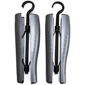 イタリア製 通気孔付き スクリュー ブーツキーパー (吊り下げフック付き) 1足分(2本組)|hobipoke