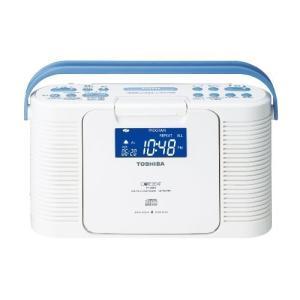TOSHIBA 防水CDクロックラジオ CUTEBEAT ホワイト TY-CDB5(W)|hobipoke