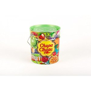 Chupa Chups  チュッパチャプス フルーツアソート 120本入り缶 バケツ 1440g|hobipoke