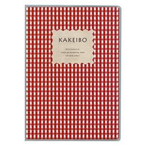 ダイゴー 家計簿 ギンガムチェック チェック柄 B5 レッド J1237|hobipoke