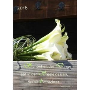 dicker TageBuch Kalender 2016  Die Schoenheit der Dinge lebt in der Seele d hobipoke