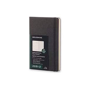 Moleskine 2016-2017 Weekly Notebook 18M Large Black Hard Cover (5 x 8.25) hobipoke