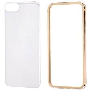 レイ・アウト iPhone 8用 アルミバンパー+背面パネル(クリア)/ゴールド RT-P14AB/CGM|hobipoke