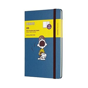 Moleskine Limited Edition Peanuts 12 Month Weekly Planner Large Sapphire Bl hobipoke