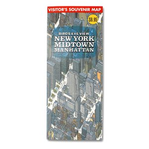 鳥瞰図 バーズアイマップ BIRDS EYE VIEW NEW YORK MIDTOWN MANHA...