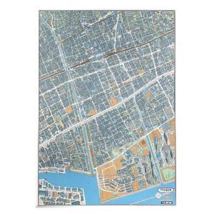 鳥瞰図 バーズアイマップ 覆刻版 芦屋絵図 地図 日本/石原 正