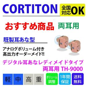 補聴器【耳穴型】【レディメイドタイプ】【両耳】コルチトーン補聴器耳あな型 TH-9000 hochoukiyasan-com