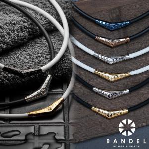 バンデル チタン ラバー ネックレス BANDEL  ラバー素材のネックレス部分と、V字型のチタン製...