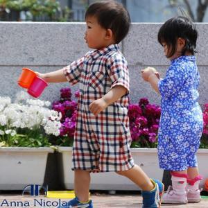 ベビー ダブルガーゼ半袖ロンパース 日本製 AnnaNicola(アンナニコラ)|hohoemi