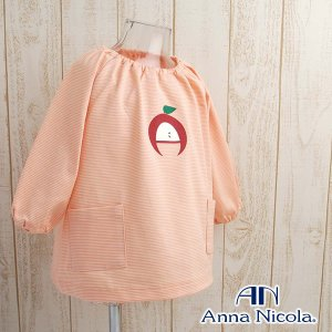 ボーダー柄スモック 収納ポーチ付き 日本製 AnnaNicola(アンナニコラ)|hohoemi