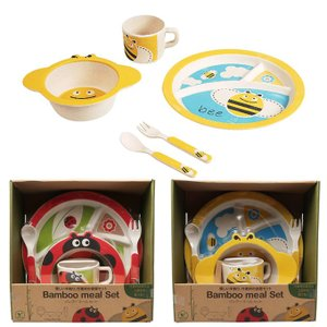 日本育児 バンブーミールセット 竹食器セット|hohoemi