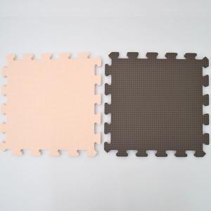 リトルプリンセス ジョイント式フロアマットツートンカラー用マット2枚販売(ブラウン1枚ベージュ1枚)|hohoemi