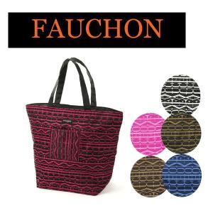 世界的に有名なフランスの有名紅茶ブランド「FAUCHON」のエコバック。 全体にFAUCHONのロゴ...