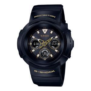 【CASIO】 カシオ G-SHOCK ジーショック  Black&Gold Series(ブラック&ゴールドシリーズ) デジアナ マルチバンド6 タフソーラー AWG-M510SBG-1AJF|hokindo1904