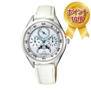 カンパノラ CAMPANOLA ミドルサイズ 腕時計 COMPLICATION ムーンフェイズ EC4000-11W 限定170本|hokindo1904