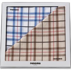 ギフト 贈り物 レノマ 紳士ハンカチ2枚セット(REG10021) / ファッション小物 インテリア 新築内祝い 内祝い 記念 快気祝い 誕生日 プレゼント|hokkaido-gourmation