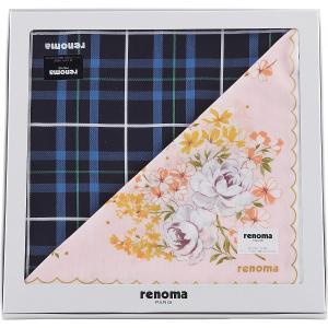 ギフト 贈り物 レノマ 紳士・婦人ハンカチペアセット(RE1000P) / ファッション小物 インテリア 新築内祝い 内祝い 記念 快気祝い 誕生日 プレゼント|hokkaido-gourmation