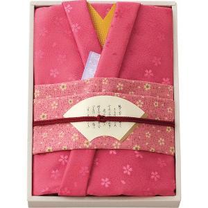 ギフト 贈り物 彩美 きもの姿 ふろしき・小ふろしきセット(ピンク)(1528) / ファッション小物 インテリア 新築内祝い 内祝い 記念 誕生日 プレゼント|hokkaido-gourmation