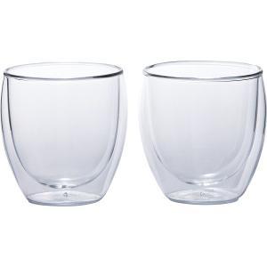 食器 ギフト 贈り物 送料無料 ボダム パヴィーナ ペアダブルウォールグラス(4558‐10) / 一式 セット コップ 新築内祝い 内祝い 御祝い お返し 誕生日 hokkaido-gourmation
