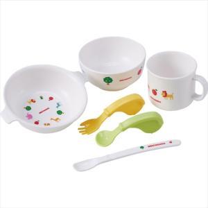 電子レンジ、食洗機使用可能な器類が入ったテーブルウェアセット。離乳食作りに便利なセットも入って、子育...