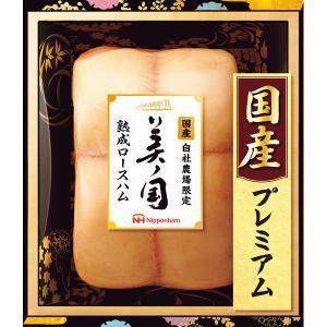 ハム ギフト 送料無料 日本ハム 美ノ国ロースハム(UKI-34) / 詰め合わせ お取り寄せ 内祝い 出産内祝|hokkaido-gourmation