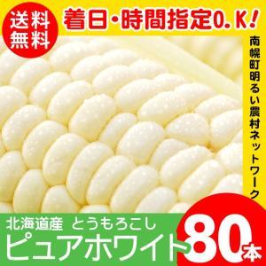 2019年ご予約承り中 8月出荷開始 北海道産 とうもろこし ピュアホワイト 80本入り 南幌町明るい農村ネットワーク / 白いとうもろこし ホワイト|hokkaido-gourmation