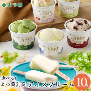 アイスクリーム ギフト  送料無料 よつ葉乳業 選べるアイスクリーム(10個) / 北海道 スイーツ セット 贈り物 ミルク よつば プレゼント|hokkaido-gourmation