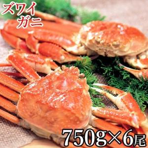 母の日 カニ 蟹 かに ズワイガニ 1尾 750g×6尾(ボイル済み) / 詰め合わせ ずわいがに姿 ズワイガニ姿 姿 茹で ボイル 冷凍 送料無料 hokkaido-gourmation