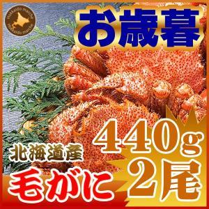 毛ガニ 毛蟹 北海道産 かに カニ 蟹 440g ×2尾...