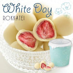 六花亭 ホワイトデー限定 お返し お菓子 チョコ  Whiteday ストロベリーチョコ ホワイト
