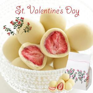 六花亭 バレンタイン限定ストロベリーチョコ ホワイト 袋入