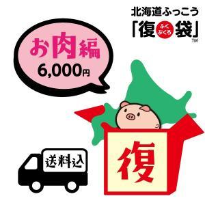 北海道ふっこう お肉の旨味な復袋 6,000円(冷凍便) 送料込み 日本ふっこうプロジェクト福袋 コロナ 復興 フードロス 北海道