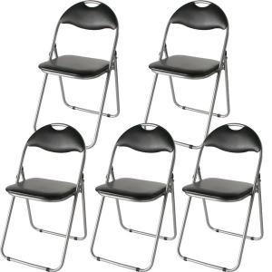 折りたたみパイプ椅子 〔15脚入り/1セット〕 スチール 背もたれ付き (会議用椅子/ミーティングチ...