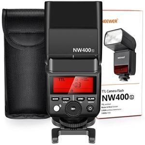 Neewer 2.4G HSS 1/8000s TTL GN36無線マスタースレーブフラッシュスピー...