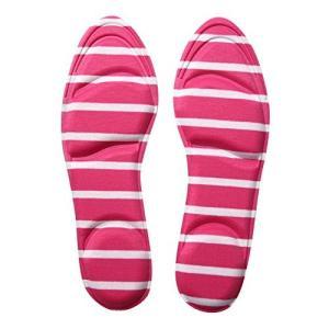 CRECER 女性用 インソール 衝撃吸収 靴 の 中敷き パンプス スニーカー に (ピンク)