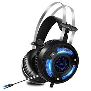 ALWUP PS4 ヘッドセット ゲームヘッドセット 高音質 イヤホン ヘッドホン ステレオ マイク...