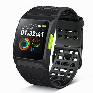 GPS ランニングウォッチ P1 心拍 疲労度 睡眠測定 VO2Max測定 Twitter LINE Gmail 電話着信通知 多機能スマートウォッチの商品画像|ナビ