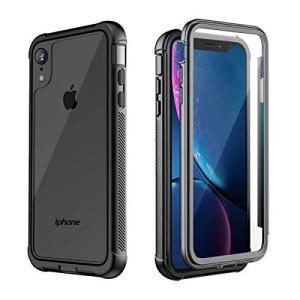 AMZKEY iPhone XR ケース耐衝撃 360°全方向保護 ワイヤレス充電対応 フェイスID認証対応 レンズ保護 両面ケース 超軽量 薄型 透の商品画像 ナビ