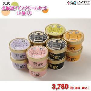[メーカーより直送]「乳蔵 北海道アイスクリームセット 12ヶ入」送料無料 送料込 ギフト