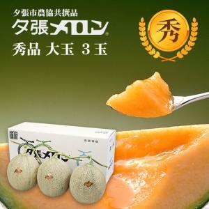 クリスマス 夕張メロン 共選 秀品大玉(約1.6kg) 3玉(代引不可)|hokkaidogb