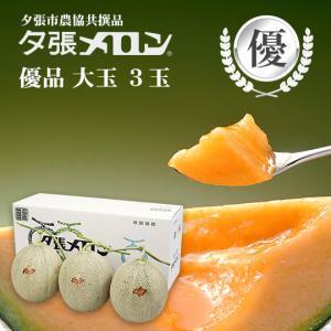 夕張メロン 共選 優品大玉(約1.6kg) 3玉(代引不可)|hokkaidogb