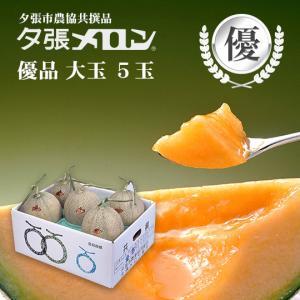 クリスマス 夕張メロン 共選 優品大玉(約1.6kg) 5玉1箱(代引不可)|hokkaidogb
