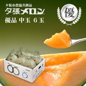 ハロウィン 夕張メロン 共選 優品中玉(約1.3kg) 6玉1箱(代引不可)|hokkaidogb