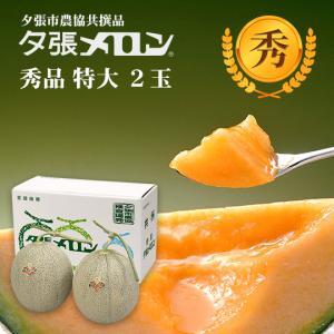 夕張メロン 共選 秀品特大(約2.0kg) 2玉(代引不可)|hokkaidogb
