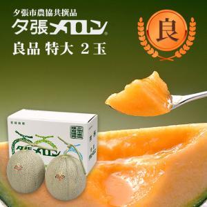 クリスマス 夕張メロン 共選 良品特大(約2.0kg) 2玉(代引不可)|hokkaidogb