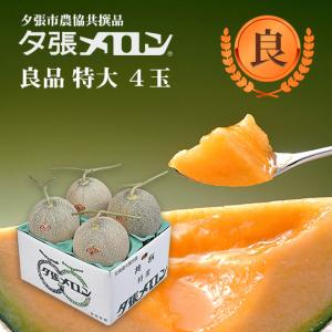 クリスマス 夕張メロン 共選 良品特大(約2.0kg) 4玉1箱(代引不可)|hokkaidogb