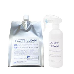 品名:スコットクリーン1L 成分:次亜塩素酸水250PPM 内容物:スコットクリーン1L+希釈用30...