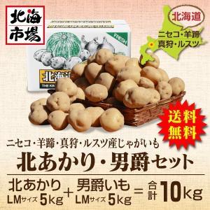 【送料無料】北海道ニセコ・羊蹄産じゃがいも北あかり・男爵セット-1|hokkaiichibasapporo