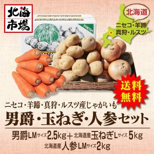 【送料無料】北海道ニセコ・羊蹄産じゃがいも 男爵・玉ねぎ・人参セット-9|hokkaiichibasapporo