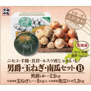 【送料無料】北海道ニセコ・羊蹄産じゃがいも 男爵・玉ねぎ・南瓜セットB-5|hokkaiichibasapporo